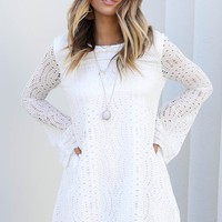 Know My Name White Lace Dress