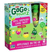 Gogo Squeez Sour Apple Raspberry Lemon Twist Applesauce On The Go - 12.8oz