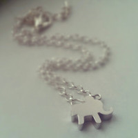 Tiny Elephant Anklet - Silver Plated Chain, Extendible - Minimalist Jewellery