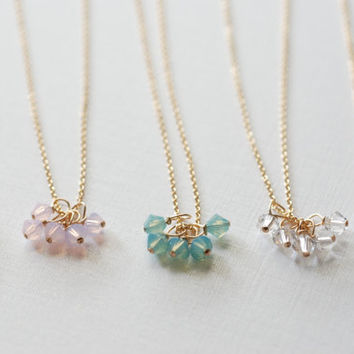 Swarovski Necklace- swarovski crystal, Gold necklace, Bridal necklace, pendant necklace, Swarovski Jewelry