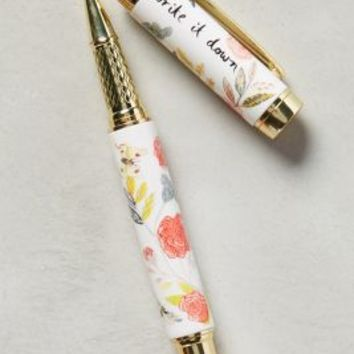 Michelle Morin Climbing Rose Pen in Coral Size: One Size House & Home