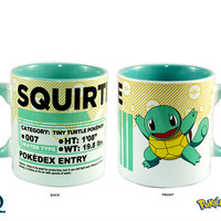 Pokemon Go! Squirtle Pokedex Entry Ceramic PREMIUM Coffee Mug Novelty Gift for Squirtle Lovers