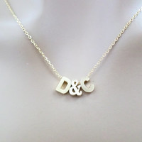 Friendship, Necklace, Personal, Letter, Initial, Necklace, Gold, Silver, Color, Friendship, Best friend, Necklace, Birthday, Gift, Jewelry