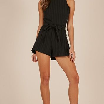 Bundle Of Love playsuit in black Produced By SHOWPO