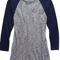 Aerie Women's Waffle T-shirt (Royal Navy)