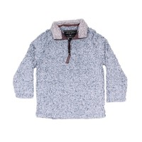 CHILD'S Frosty Tip 1/4 Zip Pullover in Denim by True Grit - FINAL SALE