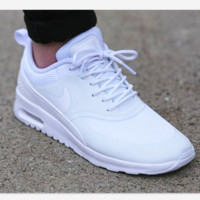 NIKE Women Men Running Sport Casual Thea Shoes Sneakers White