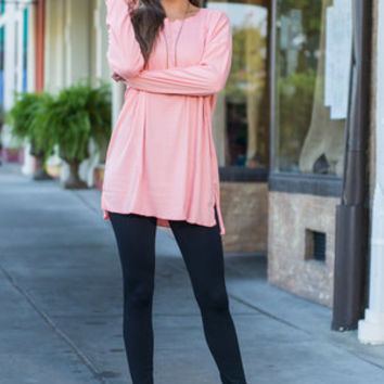 Casual And Quiet Top, Peach