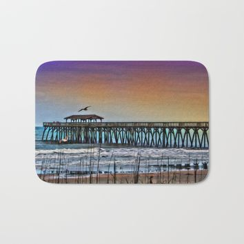 Myrtle Beach State Park Pier - Photo as Digital Paint Bath Mat by Scott Hervieux