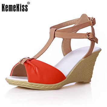 Women Peep Open Toe Wedges Sandals Stiletto Mix Color Platform Female Fashion Heeled Sexy Sandal Heels Shoes Size 34-39 PA00267
