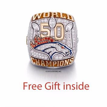 Factory direct sale 2015 - 2017 Denver Broncos Super Bowl 50 Championship Rings, Drop Shipping Birthday Christmas Gift