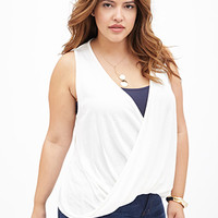 FOREVER 21 PLUS Draped Surplice Knit Top