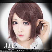 japan anime lolita cosplay Vocaloid project Diva Meiko side part bob wig JPLH062