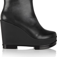 Robert Clergerie - Sarla leather wedge ankle boots