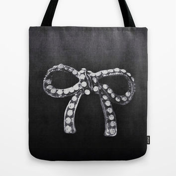 Bow Tote Bag by llaurenrachell | Society6