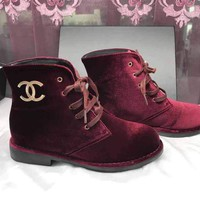 Chanel Women's Winter Suede Boots
