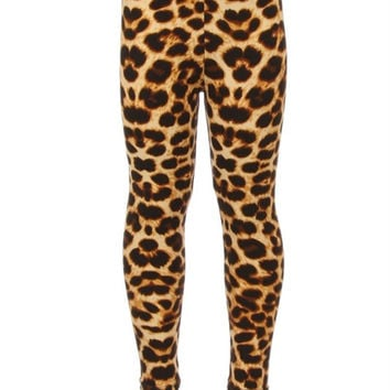 Children's Printed Leggings Light Leopard