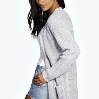 Fina Marl Fisherman Pocket Cardigan