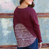 Back It Up Knit {Wine}