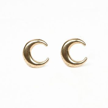 LOW LUV BY ERIN WASSON CRESCENT STUD EARRINGS - WOMEN - JEWELRY - OPENING CEREMONY