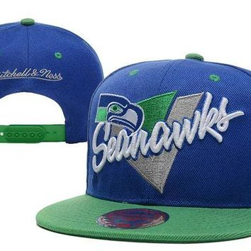 LMF8KY Seattle Seahawks Snapback NFL Football Cap M&N