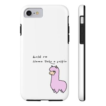 Llama Take A Selfie Phone Case- iPhone And Samsung Options