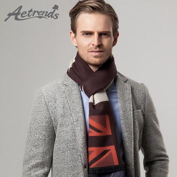 [AETRENDS] 2017 New England Style Men's Cashmere Scarf Fashion Winter Scarves Z-3458