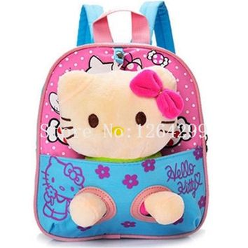 Toddler Backpack class New Fashion Hello Kitty Girls Toddler Harness Walking Safety Anti-lost Backpack Bags For Children AT_50_3