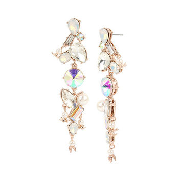 FLUTTERBYE STONE LINEAR EARRINGS: Betsey Johnson