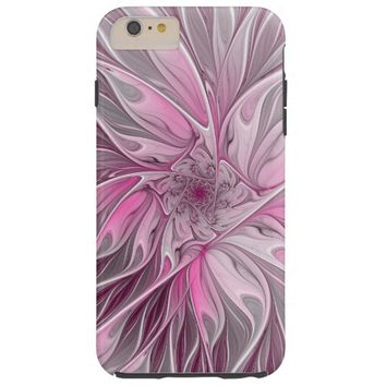 Fractal Pink Flower Dream, Floral Fantasy Pattern Tough iPhone 6 Plus Case