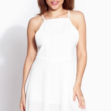 White Woven A Line Dress @ Cicihot sexy dresses,sexy dress,prom dress,summer dress,spring dress,prom gowns,teens dresses,sexy party wear,ball dresses