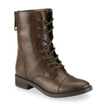 Women's Nadine Brown Combat Boot - Sears