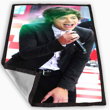cool photo harry style one direction Blanket for Kids Blanket, Fleece Blanket Cute and Awesome Blanket for your bedding, Blanket fleece **