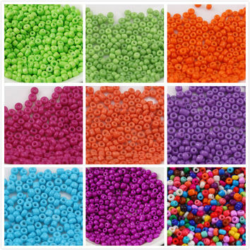 20g/lot About 300pcs DIY Jewelry Making Seed Beads 4mm Candy Color  Handmade Beads