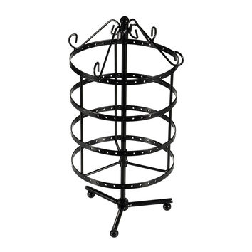 Ollieroo 4 Tiers Rotating Spin Table Top 72 Pairs Earring Holder Organizer St...