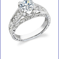 Gregorio 18K White Gold Diamond Engagement Ring  R-374-3