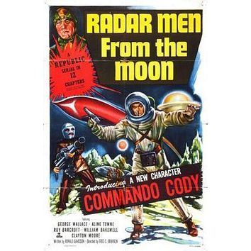 Radar Men From The Moon Movie poster Metal Sign Wall Art 8in x 12in