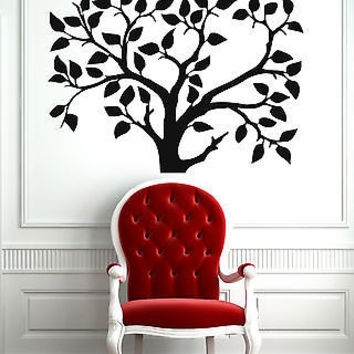 Wall Stickers Vinyl Decal Family Tree Floral Decal  z579