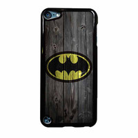 Batman Logo On Wood iPod Touch 5th Generation Case