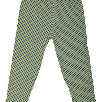 Mardi Gras Purple Green and Gold Candy Cane Stripe Tights