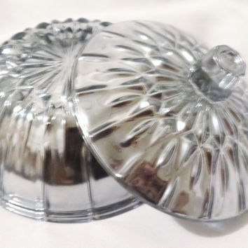 Handmade in the USA Mercury Glass Candy Dish candy bowl- new heirloom collection