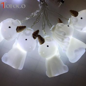 Plastic Unicorn LED String Christmas Light