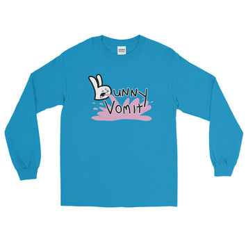 Bunny Vomit Logo Long Sleeve Mens T-Shirt