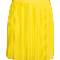 H&M - H&M+ Pleated Skirt - Yellow - Ladies