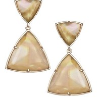 Maury Statement Earrings in Brown Mother-of-Pearl - Kendra Scott Jewelry