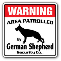 Warning - german shepherd sign