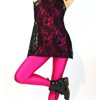 Stretch Lace Dress in Black or White  From DCUK  to wear over dance clothes