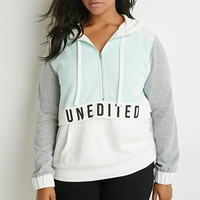 Unedited Graphic Colorblocked Hoodie