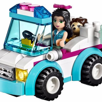 BELA 10534 Friends Series Vet Ambulance Building Blocks Classic For Girl Kids Model Toys Minifigures Marvel Compatible Legoe