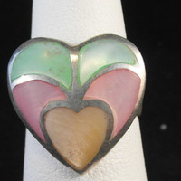 Vintage Solid Sterling Silver Heart Ring